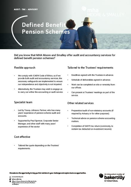 Defined Benefit Pension Schemes
