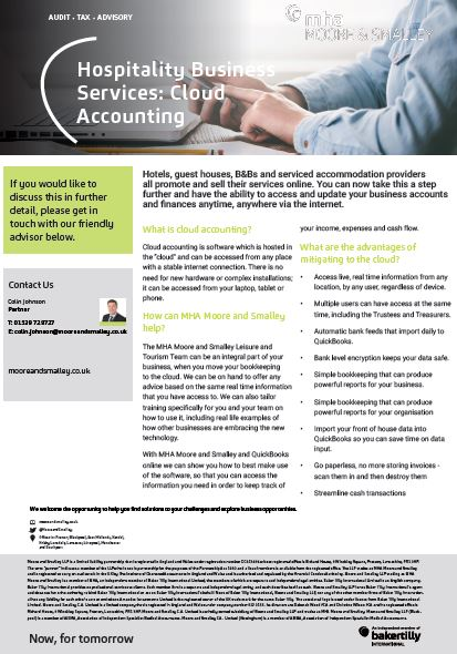 Hospitality Business Services: Cloud Accounting