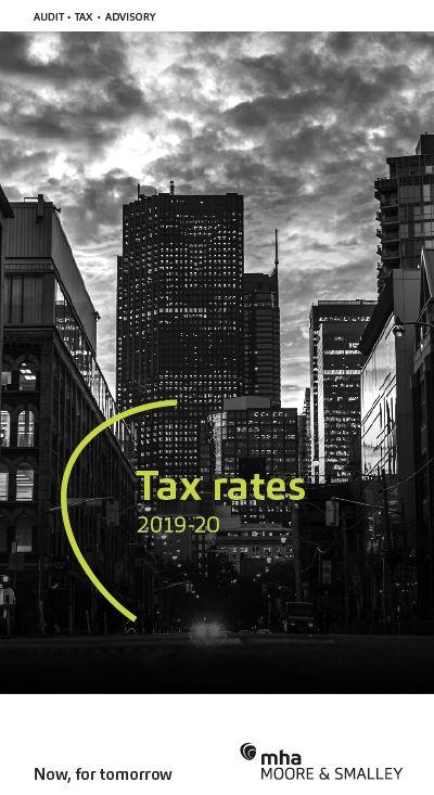 Tax Rates 2019-20