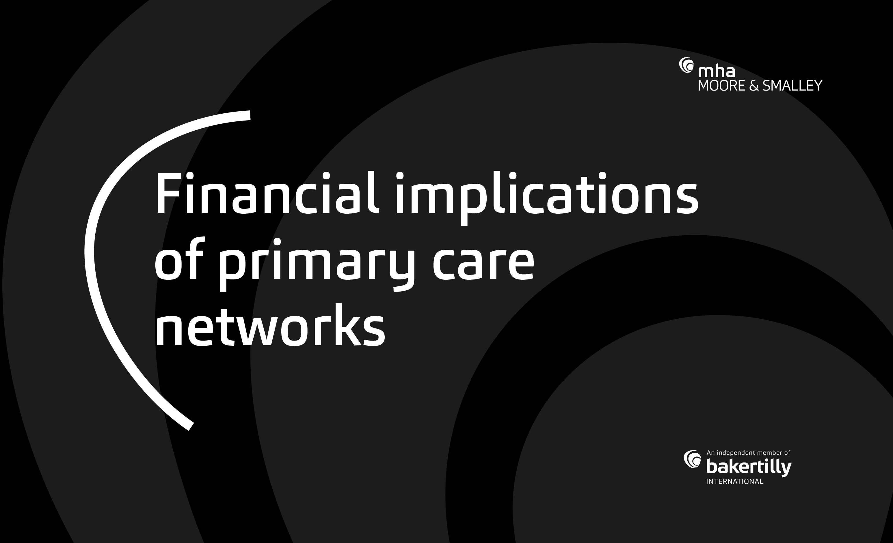 Financial implications of primary care networks