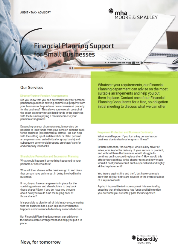 Financial Planning Support for Small Businesses