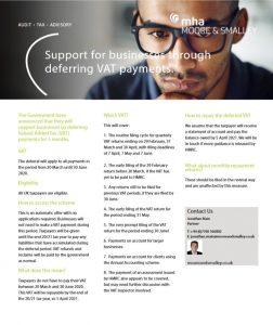 VAT Deferral factsheet - Covid-19 update