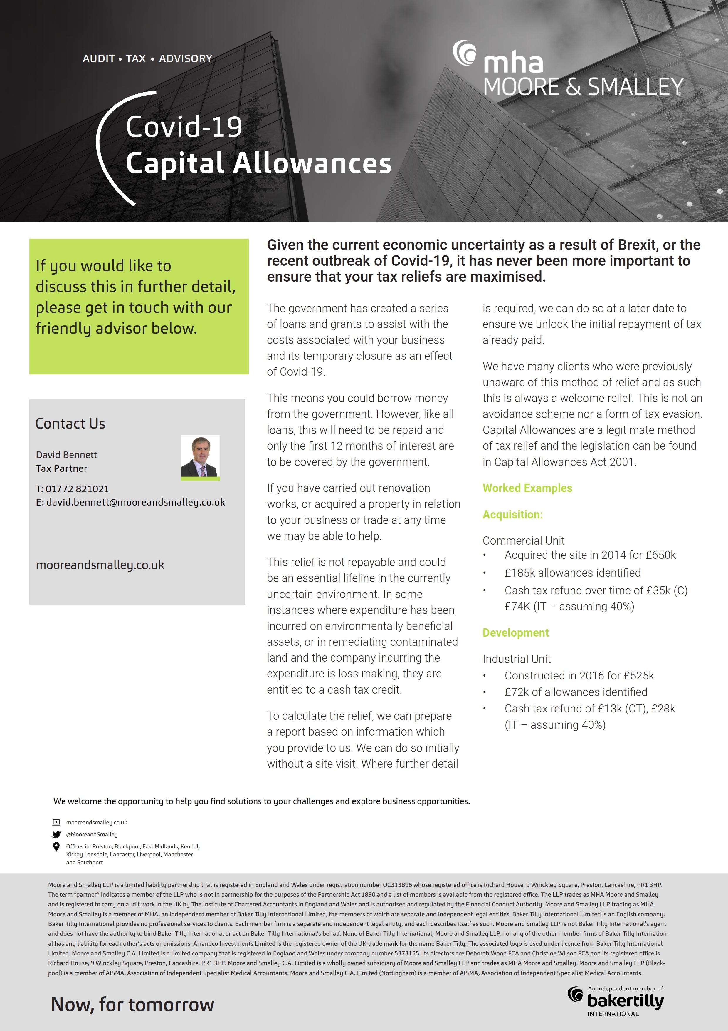 Capital Allowances – Covid 19