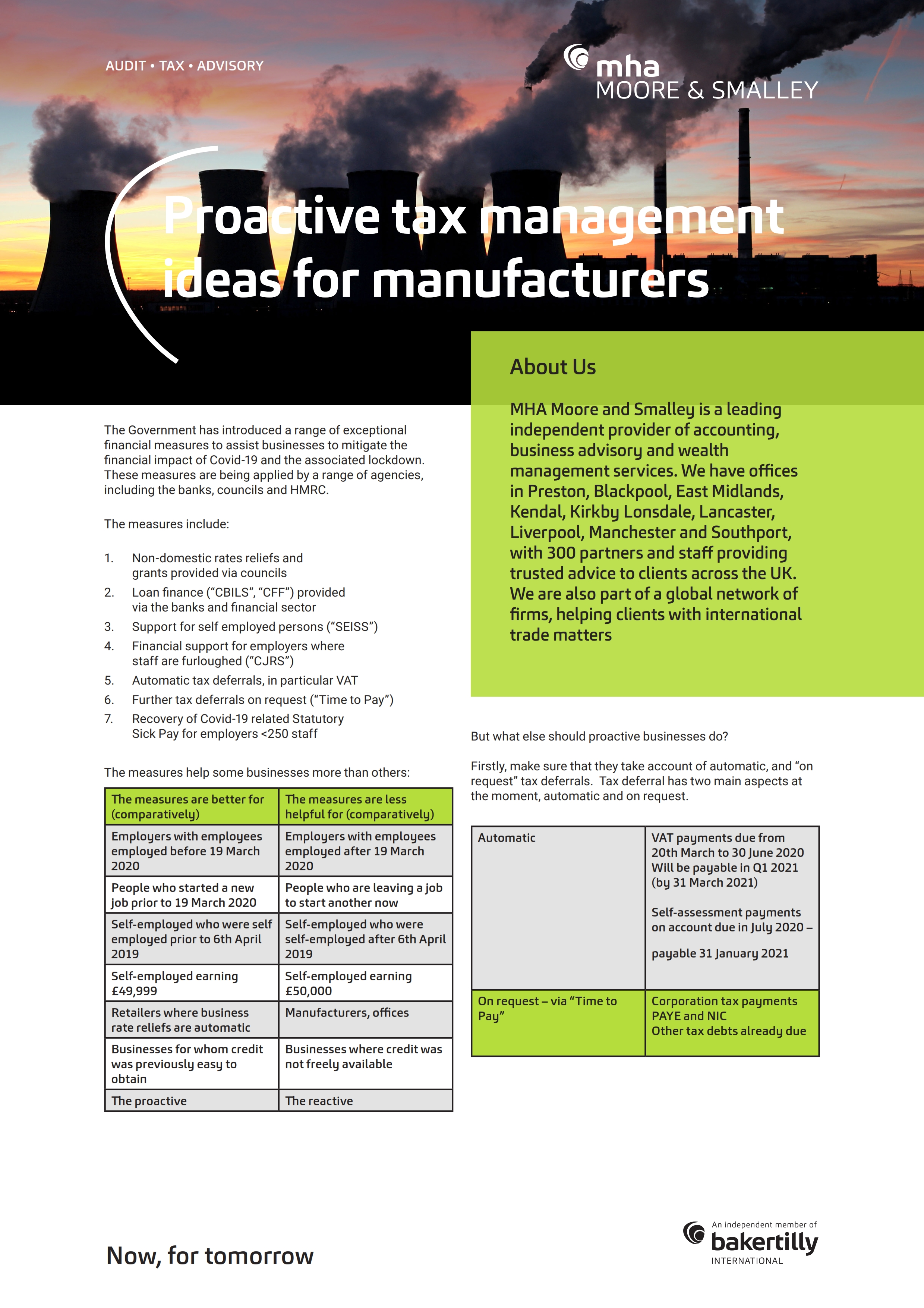Proactive tax management ideas for manufacturers