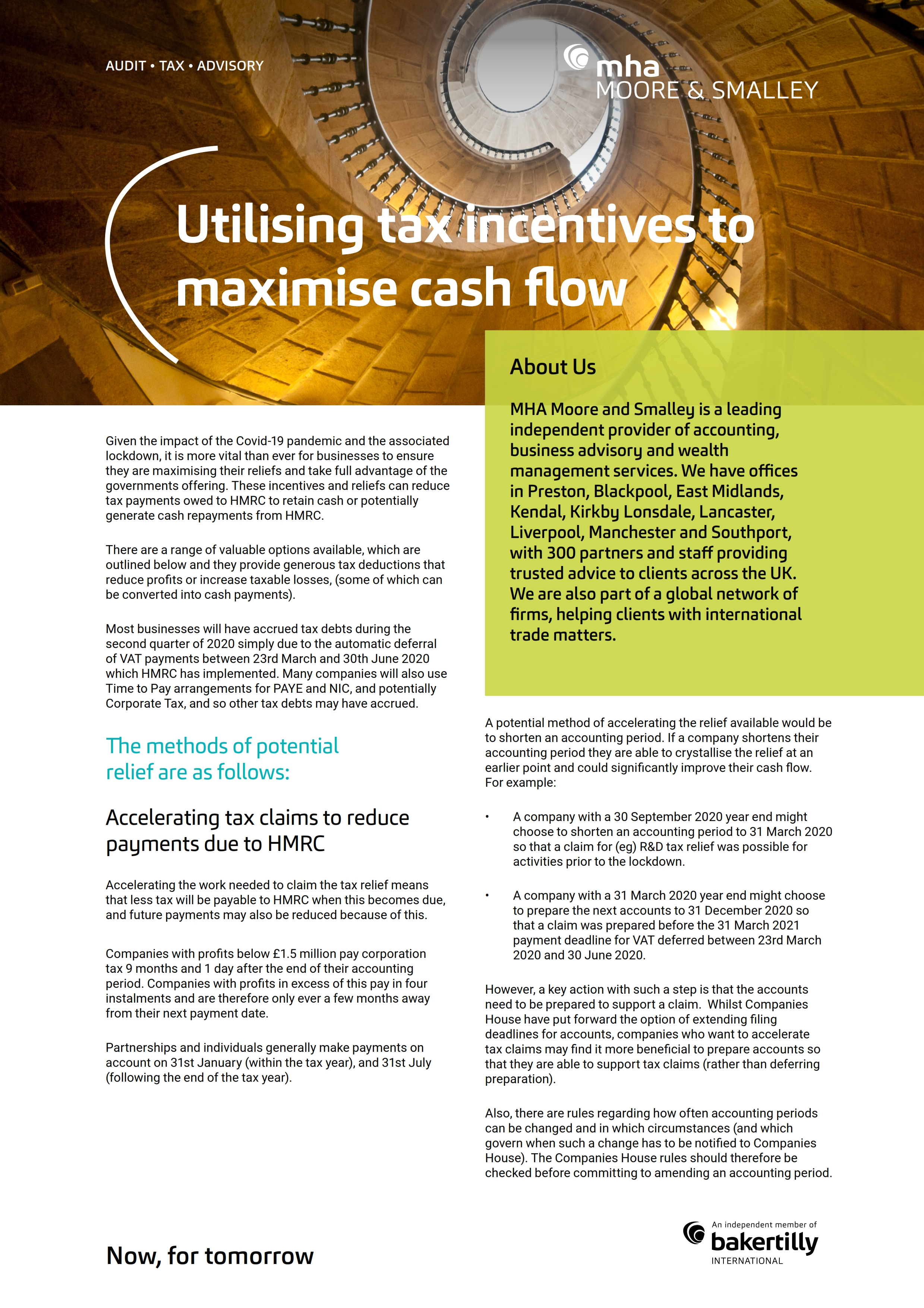 Utilising tax incentives to maximise cash flow