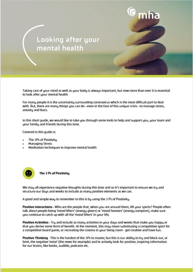 Looking after your mental health during Covid-19