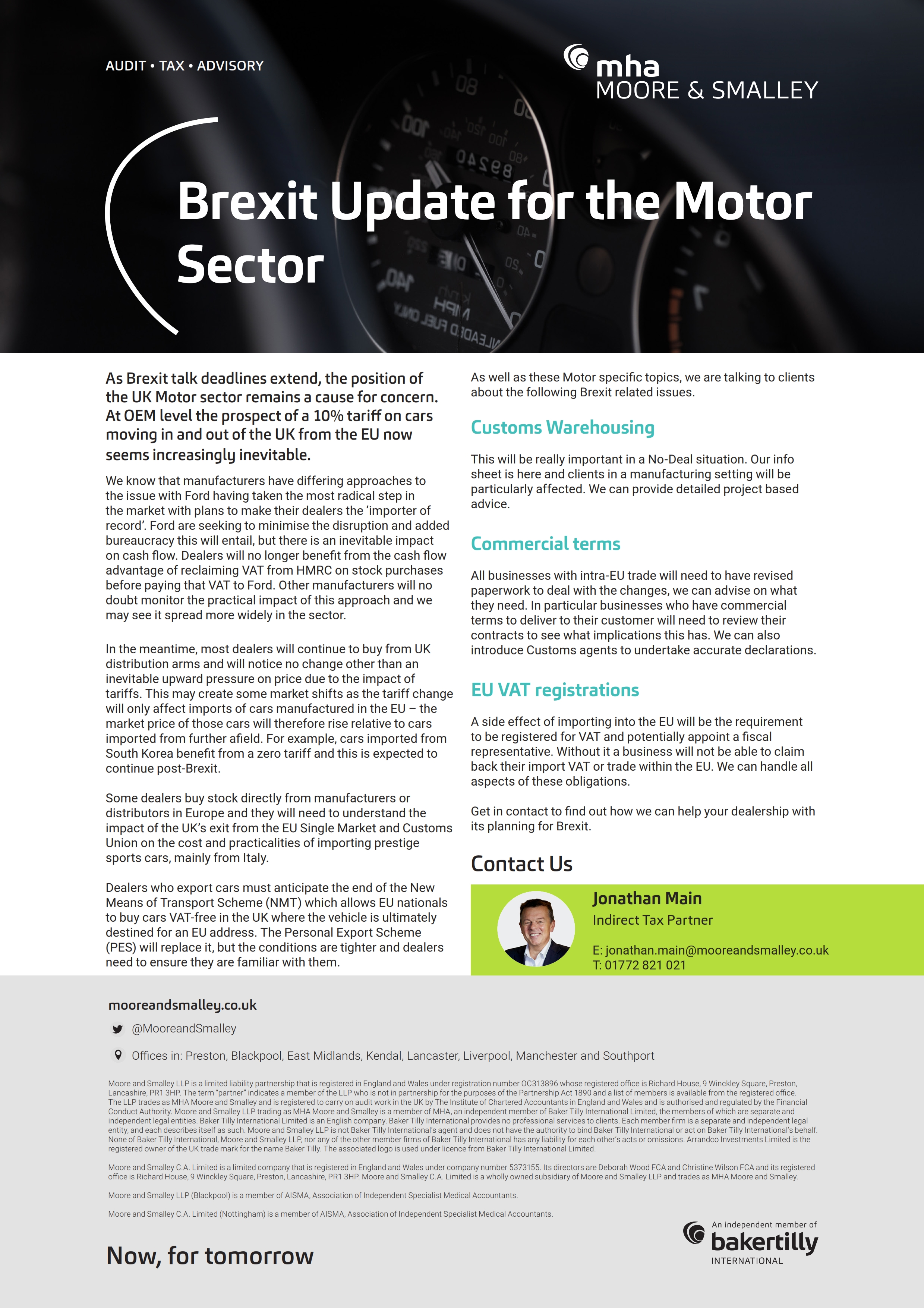Brexit Update for the Motor Sector