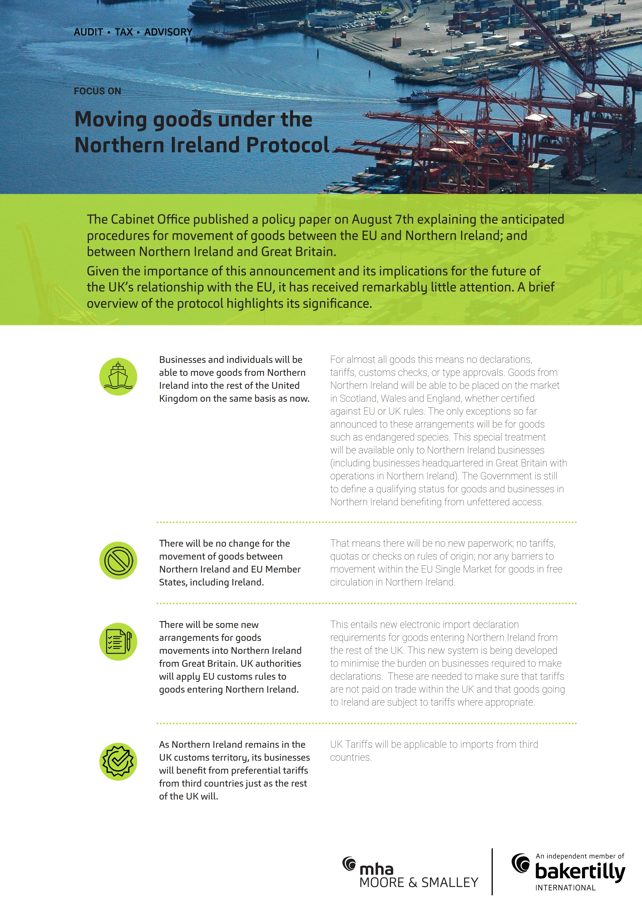 Moving goods under the Northern Ireland Protocol