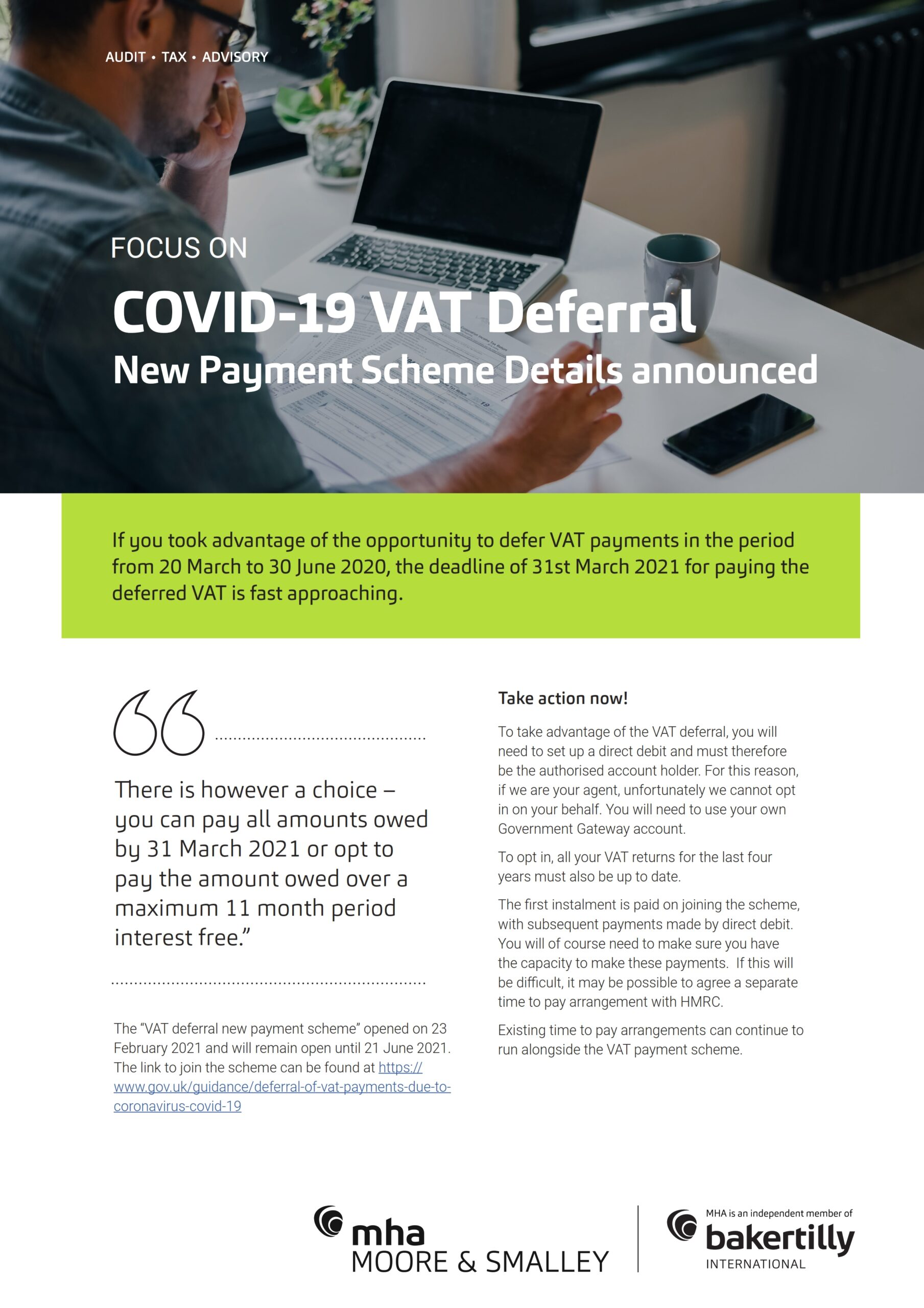 Focus On – Covid-19 VAT Deferral