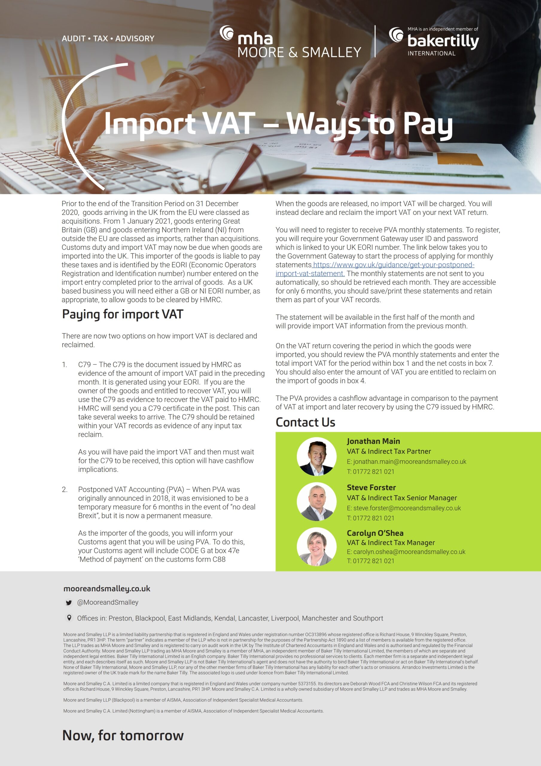 Import VAT – Ways to Pay