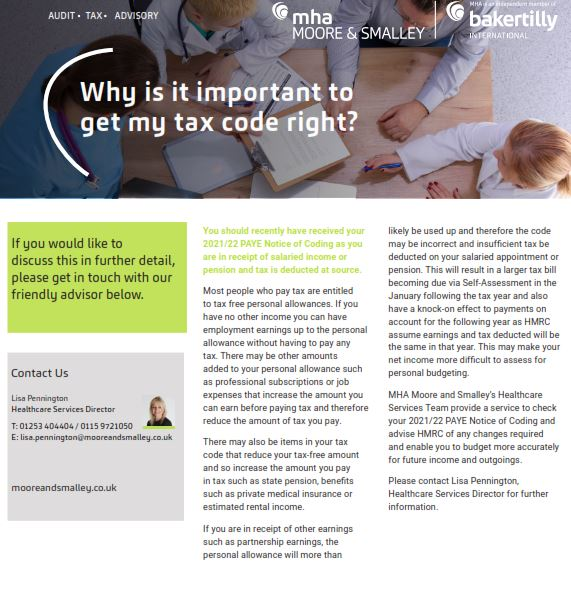 Why is it important to get my tax code right?