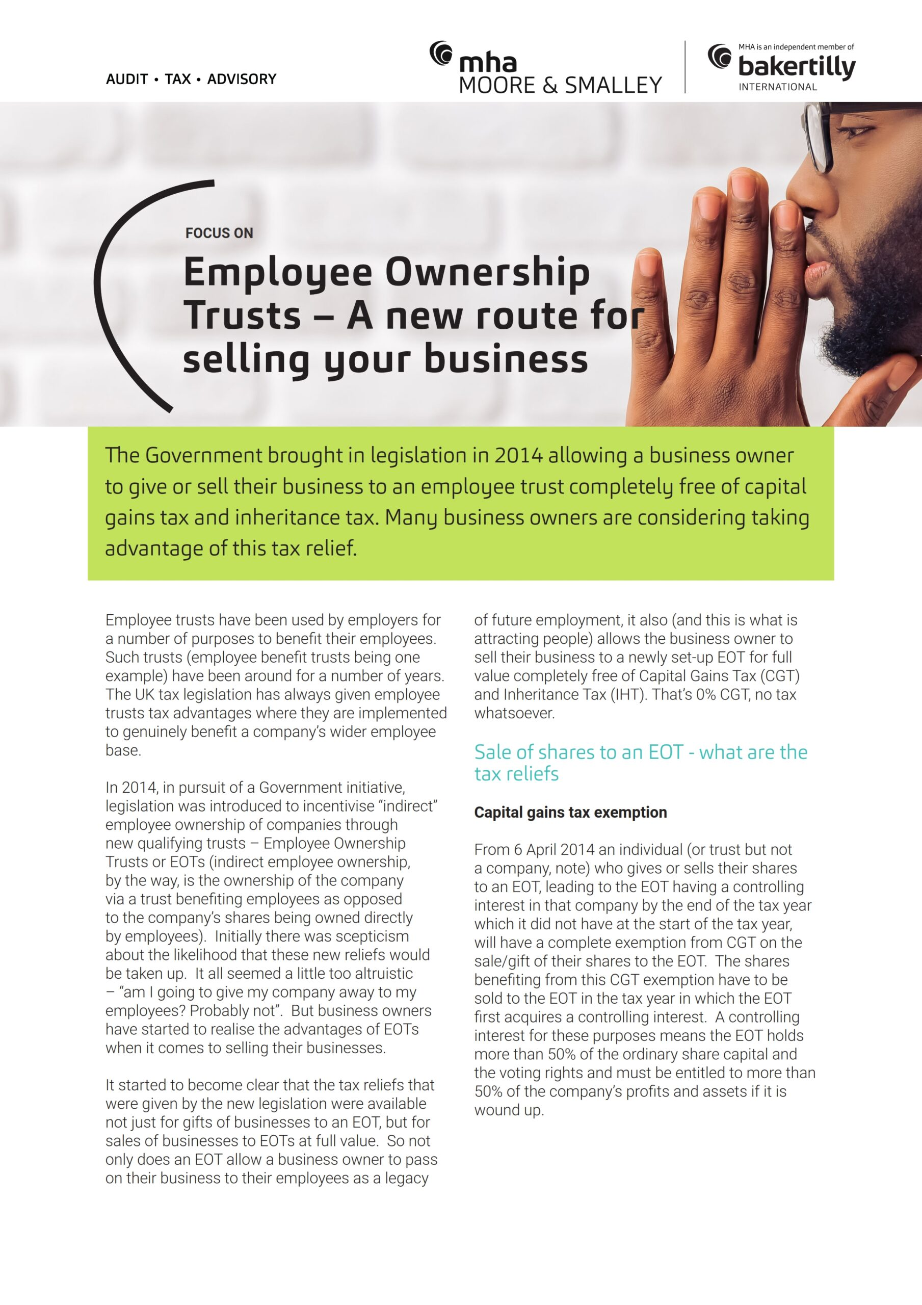 Employee Ownership Trusts – A new route for selling your business