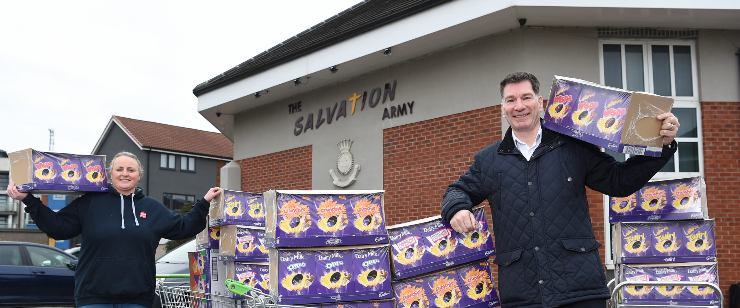 MHA Moore and Smalley brings Easter cheer to Preston with Salvation Army egg donation