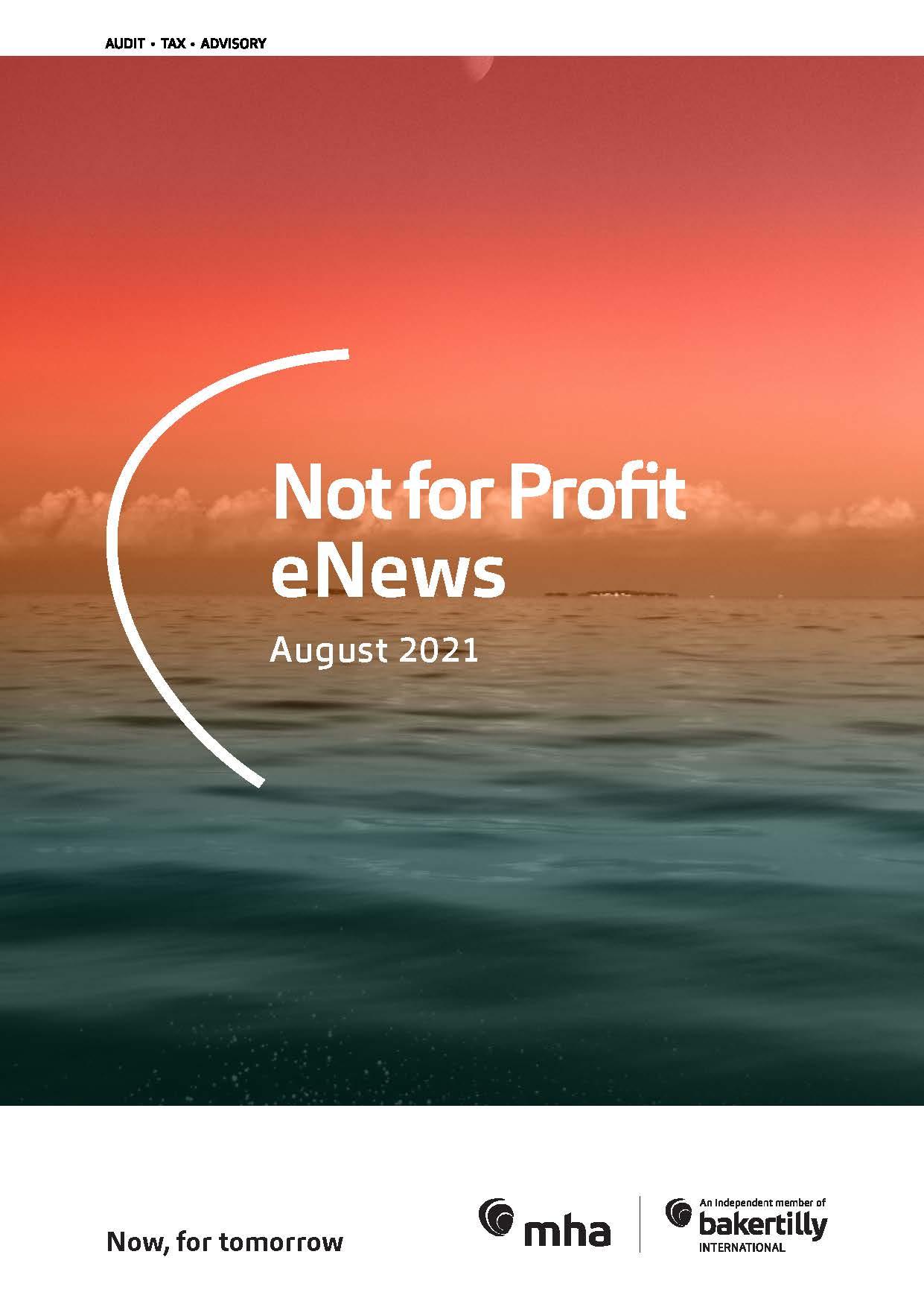 Not for Profit eNews – August 2021