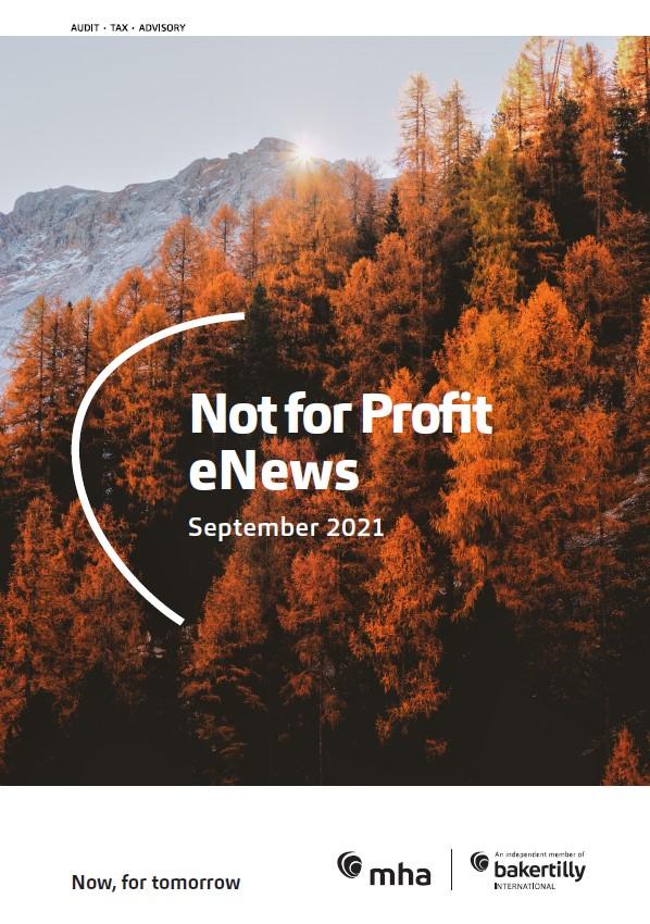 Not for Profit eNews – September 2021