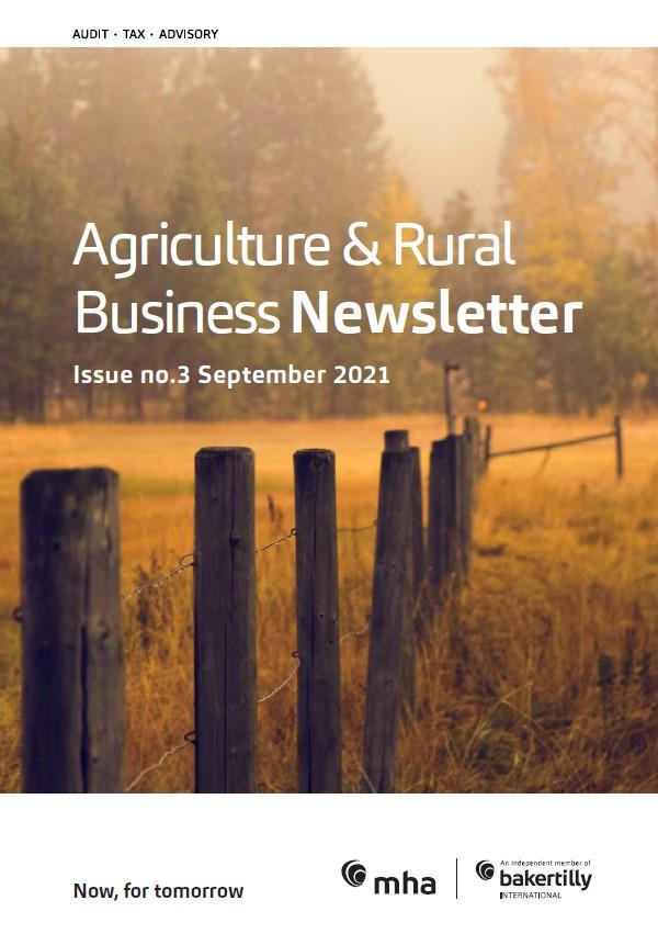 Agriculture & Rural Business Newsletter – September 2021