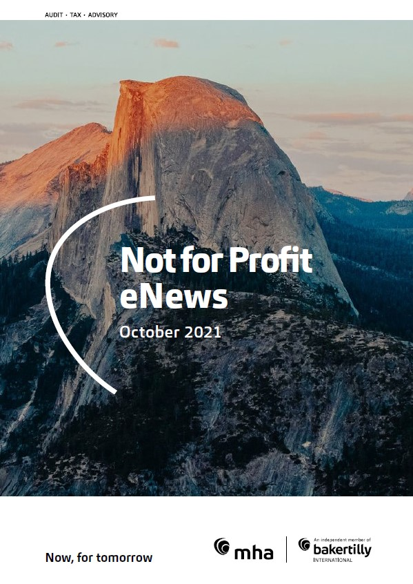Not for Profit eNews – October 2021